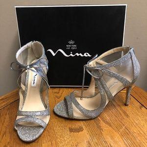 Nina Women's Cherie dress Pump- Steel Luna- NIB